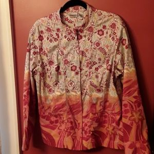 Chicos Zippered Front Jacket